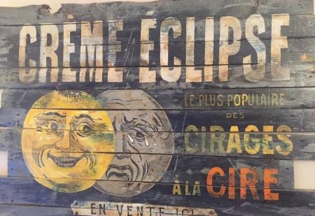 crème éclipse ça va seule déco murale ancienne pub réclame décoration déco murale bois vintage création Woodflagg sur bois palette