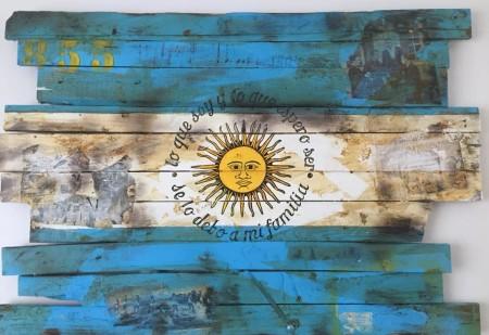 drapeau argentin love argentine décoration murale en bois l'argentine drapeau bois vintage pour déco argentin