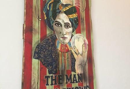 déco vintage magie et voyance étrange weird Alexander the man who knows en bois vintage pour décoration murale Woodflagg des créations uniques et originales en bois